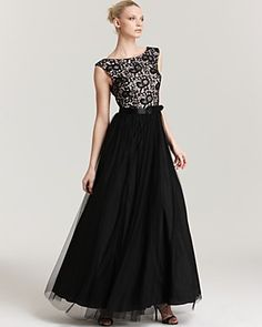 Aidan Mattox Ball Gown - Lace Bodice | Bloomingdale's