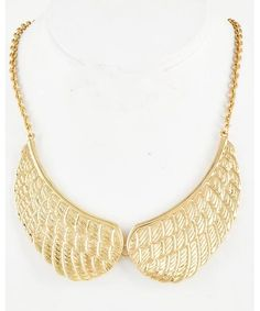 443451 Gold Tone / Lead&nickel Compliant / Metal / Angel Wing / Necklace