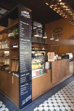 Ideas For Flowers Shop Cafe Restaurant Bakery Shop Design, Coffee Shop Interior Design, Coffee Shop Design, Cafe Design, Design Food, Pastry Shop Interior, Bakery Interior, Deco Restaurant, Restaurant Design
