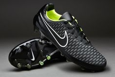 Nike Football Boots - Nike Magista Opus FG - Firm Ground - Soccer Cleats - Black-Volt-White