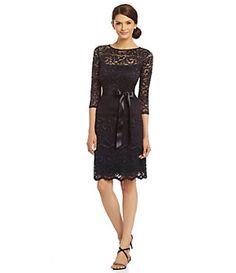 Marina Floral Lace Dress | Dillard's Mobile