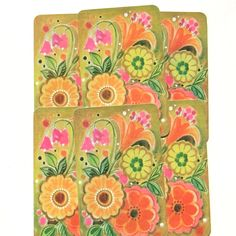 Yellow and Orange Flower Power Playing by EccentricitySupplyCo
