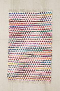 Tapis à motif triangles 2x3 multicolore