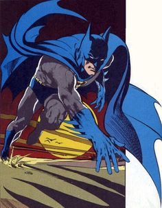 Batman goes for a jog, by Neal Adams. #Batman #NealAdams