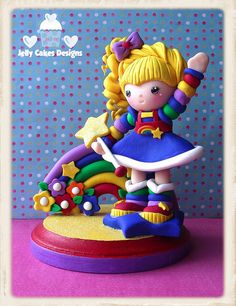 Rainbow Brite cake topper by Jelly Cakes Designs, via Flickr