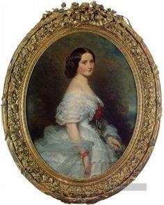 Franz Xaver Winterhalter Gemälde - Anna Dollfus Baronne de Bourgoing Königtum Porträt Franz Xaver Winterhalter