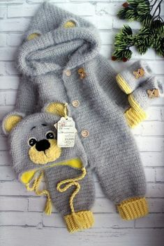 crochet pattern coming home outfit Pretty bear Expecting for baby boy gift pregn. crochet pattern coming home outfit Pretty bear Expecting for baby boy gift pregnancy reveal gender party shower with hand newborn giftbox Baby Boy Hats, Baby Boy Or Girl, Crochet Motifs, Crochet Patterns, Baby Patterns, Knitting Patterns, Newborn Gifts, Baby Gifts, Boy Newborn
