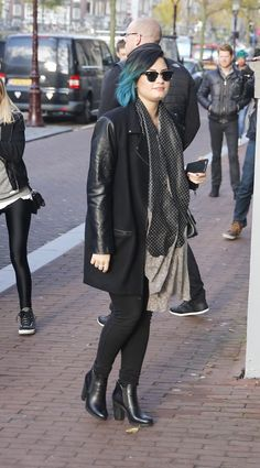 NOVEMBER 17th - Arriving at the Anne Frank Museum in Amsterdam.