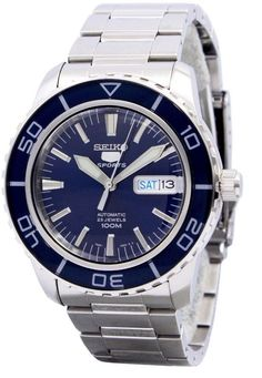 Seiko 5 Sports SNZH53 Automatic Blue Dial Stainless Steel Watch Seiko  Watches 33b1db2e32