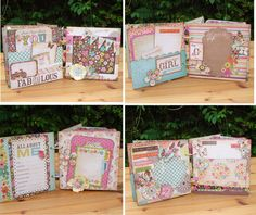 This is a handmade Srapbook Mini Album, designed for scrapbooking a young girl's pictures. The front cover says 'My name is fabulous'. A beautiful