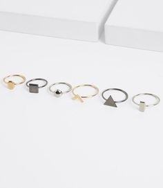 Anéis pequenos, geométricos