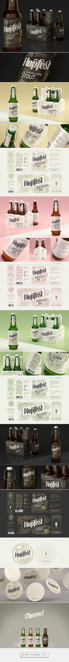 Hopfest Craft Beer packaging design concept by Marek Jagusiak - http://www.packagingoftheworld.com/2018/01/hopfest-craft-beer.html