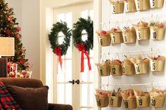 Christmas Craft Ideas: Bucket Advent Calendar