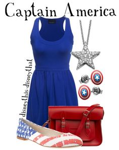 captain america inspired outfit | DisneyThis. DisneyThat. - disneythis-disneythat: Captain America