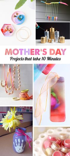 Mother's Day is on May 8th this year.  If you're like me and don't have a thing planned, first, no judgement. We're all juggling what feels like a million things. Second, we're here to save the day with some adorable DIYs that your kids can make in just 10 minutes this week. Maybe your kids will …
