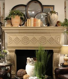 modern mantel decor rustic touch books antique mirrors in frames