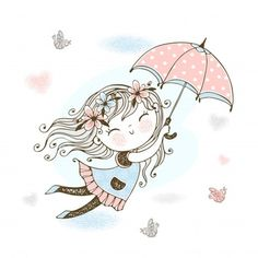 Little Girl Drawing, Cartoon Girl Drawing, Girl Cartoon, Little Girl Illustrations, Illustration Girl, Cute Little Girls, Cute Kids, Baby Girl Clipart, Doodle Girl