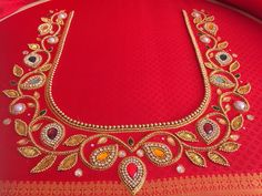 Discover thousands of images about Thushara Cutwork Blouse Designs, Best Blouse Designs, Simple Blouse Designs, Stylish Blouse Design, Blouse Neck Designs, Bridal Blouse Designs, Peacock Embroidery Designs, Hand Embroidery Design Patterns, Designer Blouse Patterns