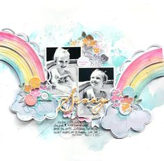 Sunny / Pinkfresh Studio iNSD 2020 (Little Nugget Creations) Scrapbook Storage, Baby Scrapbook, Scrapbook Pages, Scrapbook Designs, Scrapbooking Layouts, Eames, Studio Paris, Liquid Watercolor, Rainbow Painting
