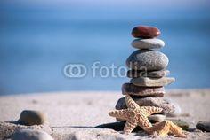 Steinstapel mit Seestern
