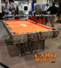 SO EASY TO DO! Change ANYTHING with a hard sealed surface into camo in one easy wrap.  Jonathan Culverhouse with Triangle Home Gamerooms, out of Raleigh, NC camo'd up their pool table in Realtree Camo vinyl! Boy it never ceases to amaze me what my Customers do with our products! www.CamoMyRide.com  #camomyride