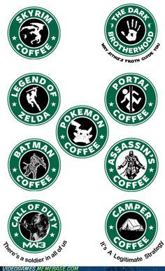 If Starbucks Made Video Game Logos