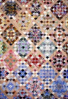 Clamshell Quilt - collection of British Quilt Museum