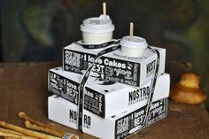 Nostro (Eva Bakacs and Nora Szekeres, a take away packaging for Nostro bakery. Craft Packaging, Cool Packaging, Wine Packaging, Food Packaging Design, Packaging Design Inspiration, Burger Packaging, Packaging Ideas, Starbucks, Bakery Design