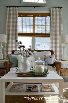 Love The Decor In This Room Especially Buffalo Check Curtains Adventures Decorating