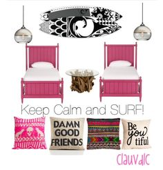 Pink surf bedroom Collage by me: ClauVDLC