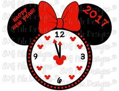 disney happy new year new year 2017 svg files for cricut cutting files