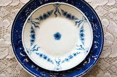 Blå og hvit - blue and white #borddekking #table setting #wedding #party #selskap #bryllup #konfirmasjon #dåp #bingogrøndahl #utleie