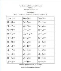 best st grade math images in   addition subtraction  free st grade math worksheets st grade math worksheets first grade math  grade