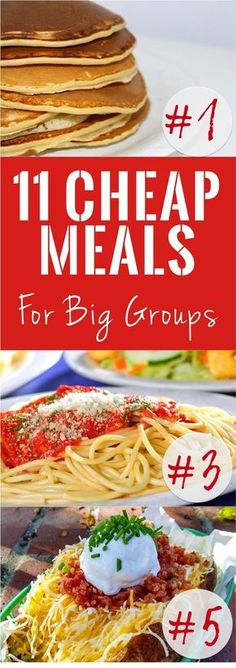 11 ideas for cheap meals for feeding a large group. Inexpensive menu idea to feed a big group of people. Cheap meal for a tight budget. Cheap Meals for Feeding Large Groups - 11 Cheap Meals for Big Groups Cooking For A Crowd, Cooking On A Budget, Food For A Crowd, Meals For A Crowd, Cooking Light, Wedding On A Budget, Dinner On A Budget, Dinner For Group, Nice Dinner