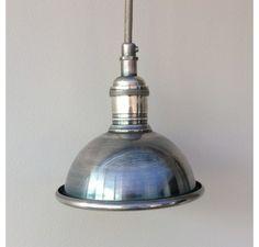 Small Nickel Pendant Light 14cm diameter £80