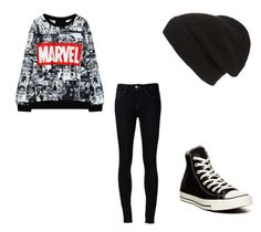 """""""Marvel"""" by bluepeacesign on Polyvore featuring Ström, Converse and Phase 3"""