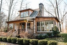 Cabin Homes, Log Homes, Tiny House Living, My House, Cabin Plans, House Plans, Cabins And Cottages, Cozy Cabin, Cabins In The Woods