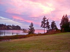 October sunrise over Hadlock Bay, WA.