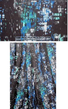 French black/blue city lights rayon twill woven from EmmaOneSock.com