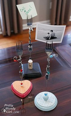 fork photo holders - all the instructions included