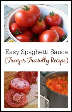 How to Make Spaghetti Sauce from Fresh Tomatoes (Freezer Friendly Recipe) How to make delicious, freezer-friendly spaghetti sauce Freezer Spaghetti Sauce, Spagetti Sauce, Making Spaghetti Sauce, Spaghetti Sauce From Scratch, Spaghetti Sauce Recipes, Healthy Spaghetti Sauce, Veggie Recipes, Dinner Recipes, Healthy Recipes