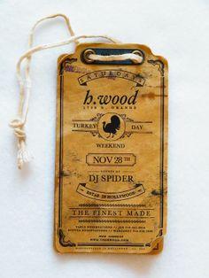 Vintage single print tags