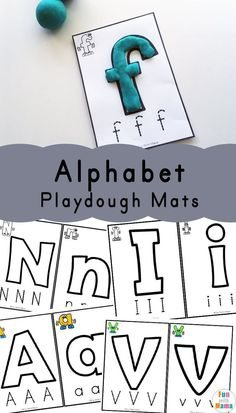 Free printable Alphabet Playdough Mats to work on alphabet letters and tracing. This kids activity is perfect for toddlers and preschoolers to work on fine motor skills. - Education and lifestyle Nursery Activities, Playdough Activities, Alphabet Activities, Activities For Kids, Free Printable Alphabet Letters, Learning Activities, Teaching The Alphabet, Learning Letters, Kids Learning
