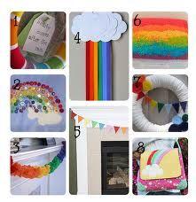 rainbow garland - Google Search