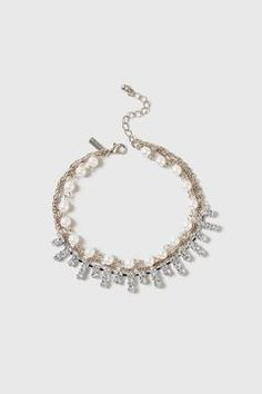 Pearl And Rhinestone Anklet