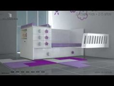 Cuna convertible barata disponible en el Outlet de Alondra - YouTube Nursery Room, Baby Room, Baby Deco, Kids Furniture, Guest Room, Kids Room, Child Room, Toddler Bed, Bedroom Decor