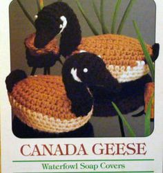 Crochet Pattern Canada Geese Animal Waterfowl Soap Covers GRB   eBay