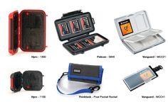 Varios modelos de fundas y estuches para tarjetas de memoria #fotografos