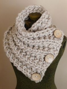 THE LANCASTER SCARF Chunky Hand Knit Scarf in by BoPeepsBonnets, $60.00