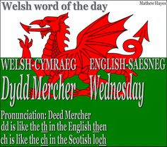 Welsh words with English translation and pronunciation. Learn Welsh, Welsh Words, Welsh Phrases, Welsh Language, World Languages, My Ancestors, Cymru, Word Of The Day, Vocabulary